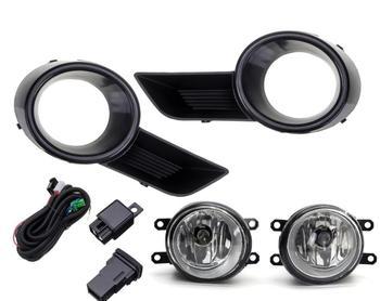 1set Car highlander Fog Light Bumper Lamp With halogen Bulb Harness for 2008~2011/2012~2014 front lamp highlander headlight