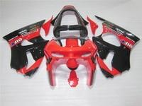 New hot body parts fairing kit for Kawasaki Ninja ZX6R 98 99 red black fairings set ZX6R 1998 1999 OT13