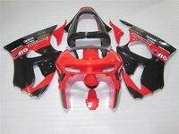 Nuevo caliente carenado kit para Kawasaki Ninja ZX6R 98 99 Rojo Negro carenados conjunto ZX6R 1998 1999 OT13