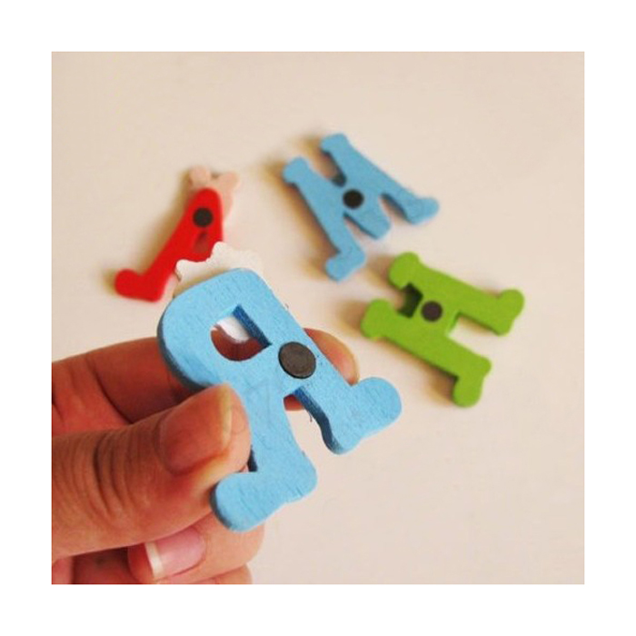 Бесплатная доставка 26 шт. Деревянный 3D Английский алфавит на магнитах доска головоломки Обучение Обучающие игрушки Best Игрушечные лошадки д...