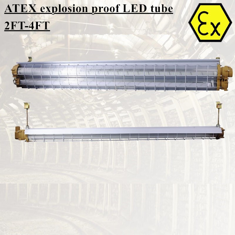 BPY Explosion Proof Led Tube Fixture 2ft 4ft ATEX Zone 1 Linear LED Highbay Light Fixtures