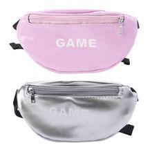 Laser Waist Bags for Children Baby Girl Letter Funny Pack Mini Kids Shoulder Women Money Packs Belt Bag