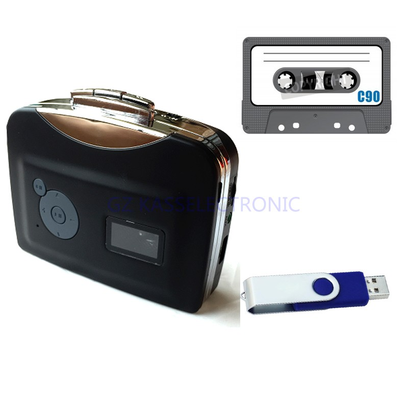 2017 new usb tape adapter, convert cassette tape to mp3 in USB Driver, no pc required, auto reverse headphones, Free shipping