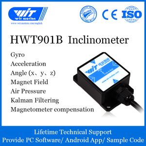 WitMotion HWT901B High-Precision AHRS Inclinometer, Kalman Filter , Built-in Military-Grade RM3100 Module, Few Drift of Z Angle(China)