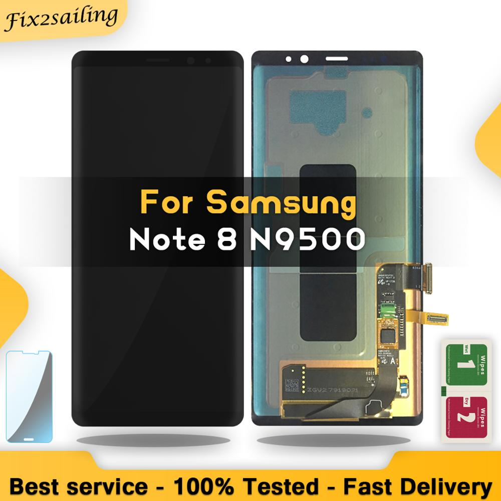 SUPER AMOLED Display For SAMSUNG Galaxy NOTE8 LCD N950 N950F Display Touch Screen Replacement Parts