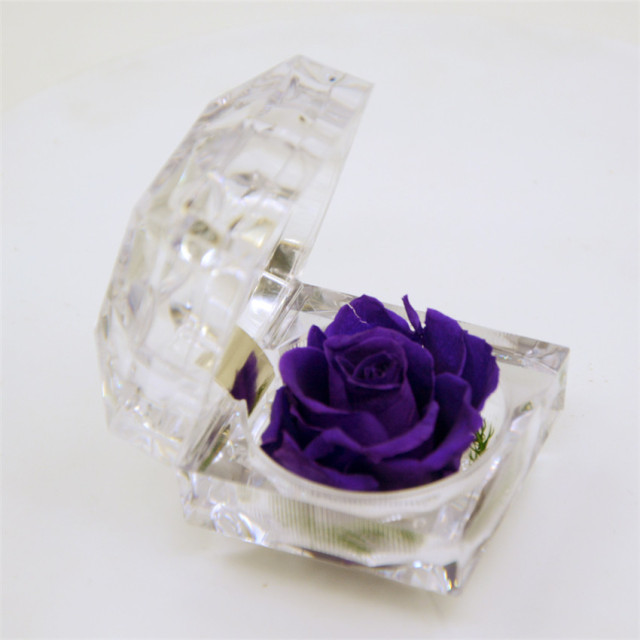 Wholesale DIY Preserved Fresh Rose Ring Box Sent Lover Gift Girlfriend Birthday