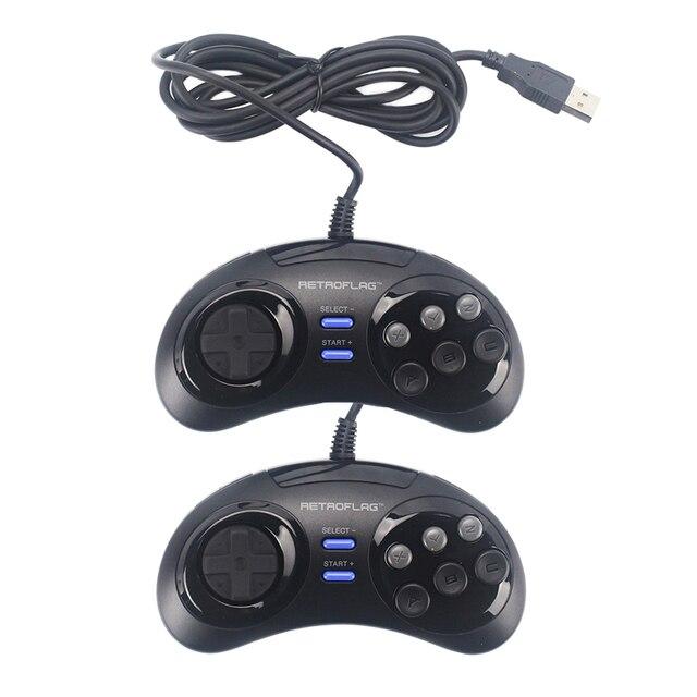 Retroflag Wired USB Game Controller Gamepad Joypad for Rasbperry Pi 4 B /MEGAPi/NESPi/SUPERPi Case for PC/Switch for Windows