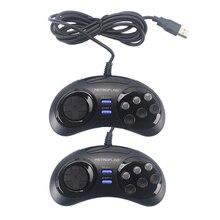 التحديثية السلكية USB أذرع التحكم في ألعاب الفيديو غمبد Joypad ل Rasbperry Pi 4 B /MEGAPi/NESPi/SUPERPi الحال بالنسبة للكمبيوتر/التبديل ويندوز