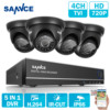 ANNKE 4CH 960H HDMI DVR 2PCS 800TVL IR Outdoor Weatherproof CCTV Camera 24 LEDs Home Security