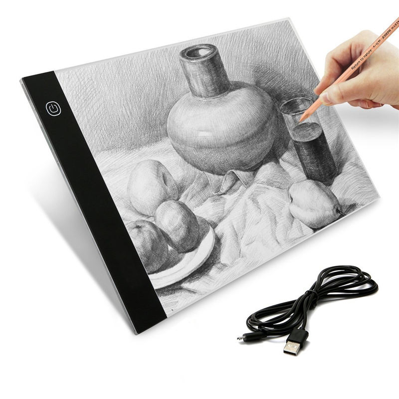 Portable A4 LED Writing Painting Light Box Tracing Board Copy Pad Drawing Tablet Artcraft for Artist Sketching Animation amzdeal a4 led writing painting light box tracing board copy pads drawing tablet artcraft a4 copy table led board