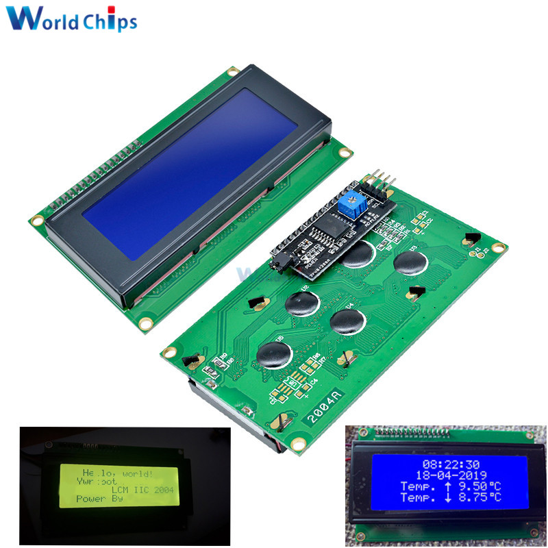 Diymore LCD2004 2004+IIC/I2C LCD 2004 20x4 Character LCD Display Module HD44780 Controller Blue Screen Backlight For Arduino LCD