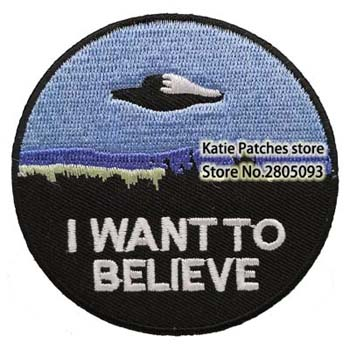 TV Show X Files I Want To Believe Fabric Iron On Patch UFO TV Series Kids