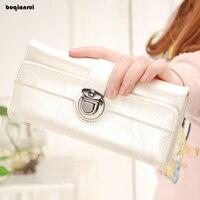 Long Solid Women Wallets Famous Brands Designer Female Bag Ladies Cute Women S Purse Walet Leather