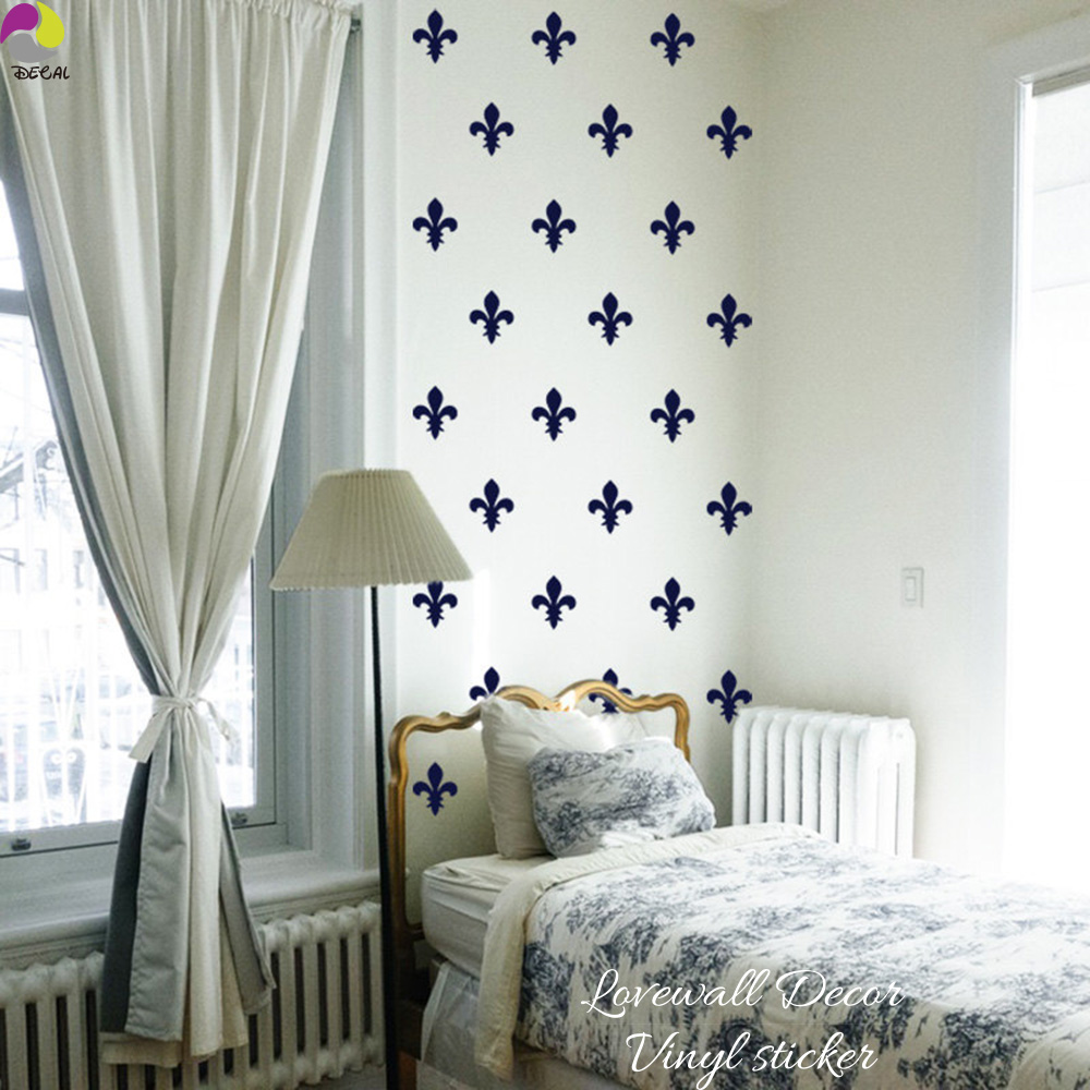 Fleur De Lis French Shabby Chic Flower lily Wall Sticker Bedroom ...
