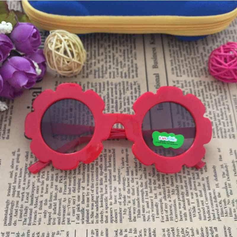 Toddler Girl Sunglasses Flower Shaped Plastic Cartoon Dark Glasses Children Summer Dress Up Decorations Photo Props 2pcs/lot
