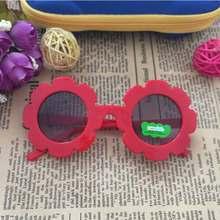 Toddler Girl Sunglasses Flower Shaped Plastic Cartoon Dark Glasses Children Summer Dress Up Decorations Photo Props