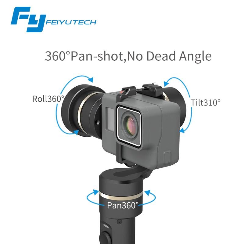 FeiyuTech fy G5 Splashproof 3-axis Handheld Gimbal For <font><b>GoPro</b></font> <font><b>HERO</b></font> 6 5 <font><b>4</b></font> 3 3+ Xiaomi yi 4k SJ AEE Action Cameras Bluetooth APP