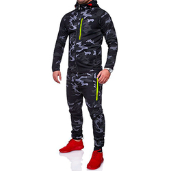 IceLion 2019 Spring Camouflage Hoodies Men Zipper Cardigan Hooded Sweatshirts Fashion Print Sportswear Men's Slim Fit Tracksuit 2