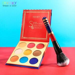 Image 4 - Docolor 12pcs Spazzole di Trucco Professionale Cosmetici In Polvere Prodotti Di Base Eyeshadow Brush Set e 9 di Colore Ombretto Nude Tavolozze Kit