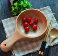 Korea południowa hurtowych towarów do miski salaterki z uchwytem z kiszona kapusta Nordic drewna bukowego miska miska