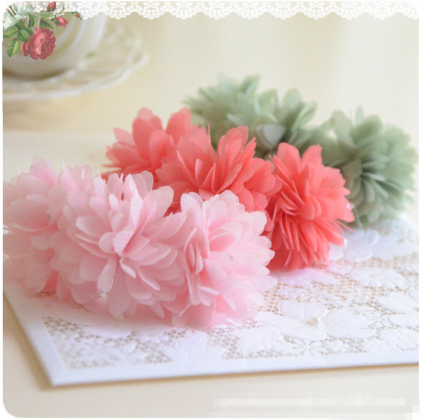 2 pcs / lot Fabric flower floral Hair clip baby girls accessories headwear for kids children hair band Hairpin kk1336 6pcs lot 2016 new baby girls elastic headband silky fabric flower head band newborn infant hair band kids baby hair accessories