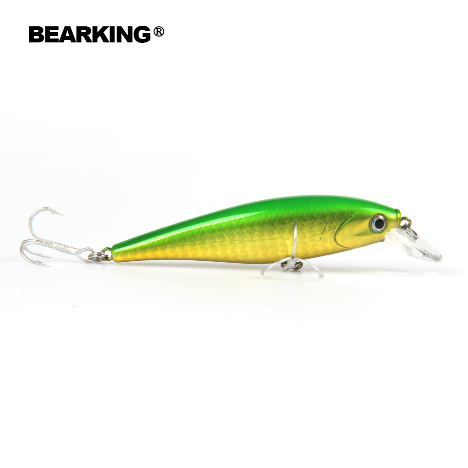 Bearking 1PCS Floating Minnow Fishing Lure Laser Hard Artificial Bait 3D Eyes 6.5cm 5g Fishing Wobblers Crankbait Minnows fishing lure minnow crankbait artificial hard swim bait hook tackles 3d eyes new