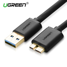 Ugreen Micro USB 3.0 Cable 1M 2M 3M Fast Charging Data Cable USB 3.0 Mobile Phone Cable for Samsung Note3 S5 Toshiba Hard Disk