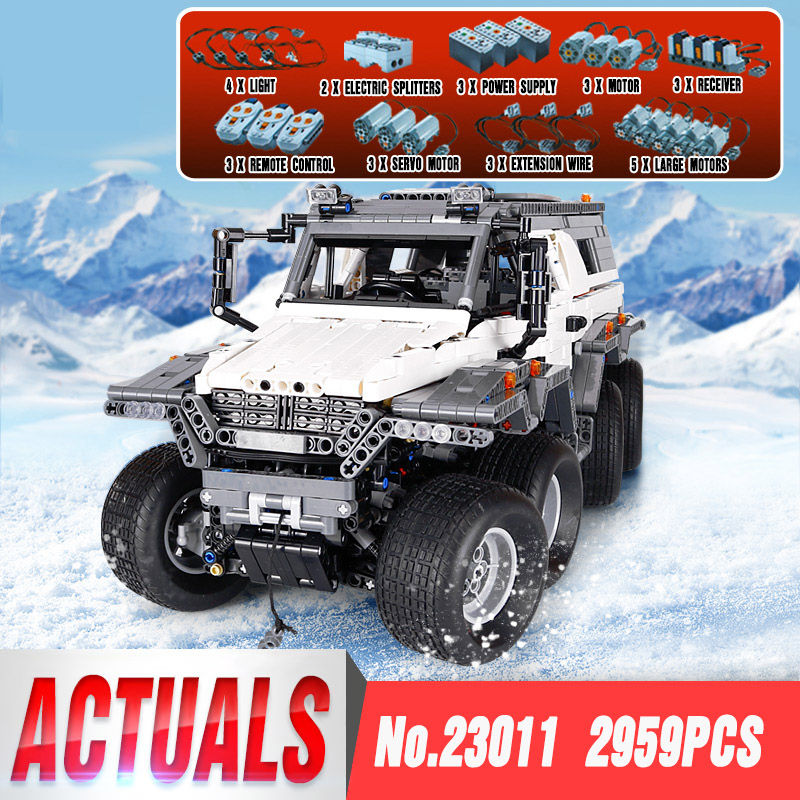 2017 New LEPIN 23011 2959 pcs Technic Series Off-road vehicle Model Building Kits Block Educational Bricks Compatible Toys Gift  car window curtains legal