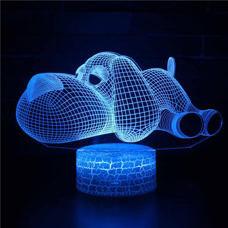 Ambitious Remote Control Table Lamp For Bedroom Creative Plug In Colorful 3d Led Night Light Christmas Decorations Gift For Baby Room