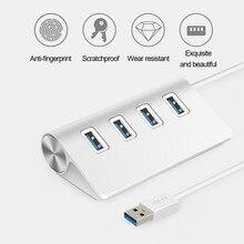 Adaptador de Enchufe Universal para ordenador multipuerto USB 3,0, 4 puertos, para Apple, Mac, PC, Tablet, Stekkerdoos