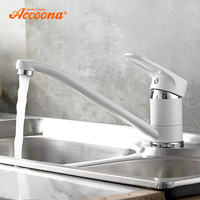 Accoona Spray Paint Kitchen Faucet Long Pipe 360 Degree Rotation with Water Purification Kitchen Features Single Handle A4130