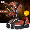 2em1 pode sentar pode mentir crianças luz carrinho de bebê carrinho de dobramento frete grátis Russo