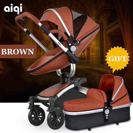 Baby stroller 2in1 can sit can lying light children cart folding Russian free shipping