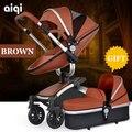 Cochecito de bebé luz 2in1 puede sentarse puede mentir niños cesta plegable Rusa libera el envío