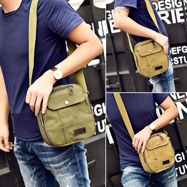 Men's Canvas Messenger Shoulder Bag