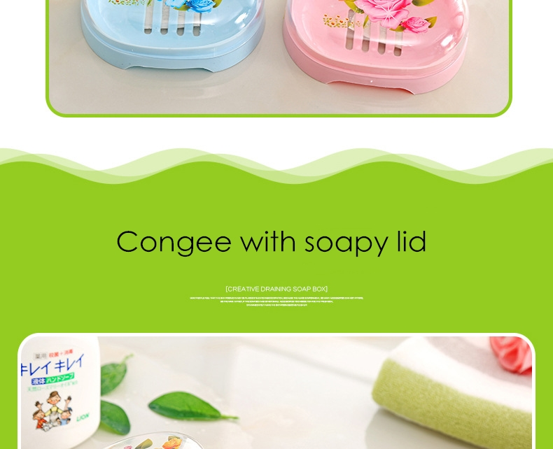 Furniture Ctree 1pc Household Portable Soap Dishes Bathroom Supplies Band Cover Lek Water Soaps Box Bathroom Accessories High Quality C704