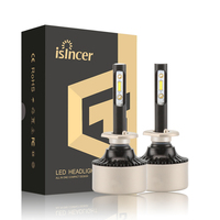 ISincer New Upgrade H4 H7 LED Car Headlight Kit 80W 8000LM Set H1 H11 9005 HB3