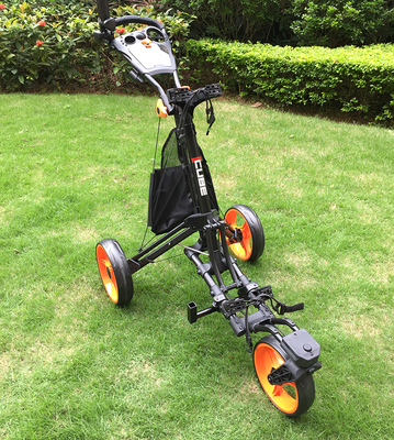 Fashion Outdoor Golf Hand Cart 360 Degrees Rotate Trolley Aluminium Alloy Frame Golfball Bag Jak-tung Truck Hand Buggy