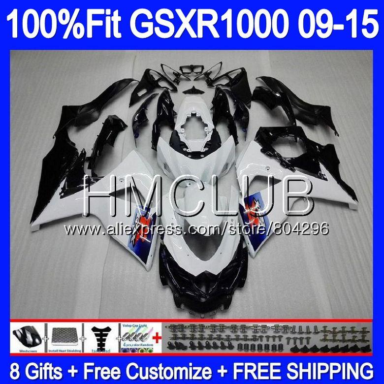 Fairing For SUZUKI GSX R1000 GSXR 1000 09 10 11 12 13 15 36HM.4 GSX R1000 K9 Hot white GSXR1000 2009 2010 2011 2012 2014 2015