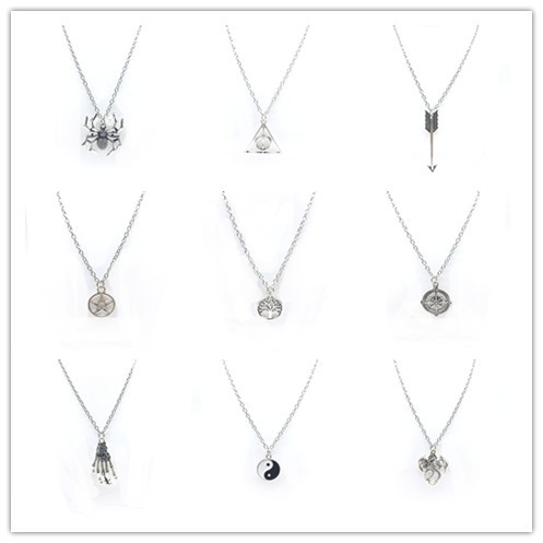 WLP jewelry Charm Fashion necklace simple silver color chain necklace Infinity Leaf Bird Pendant Necklaces Collares