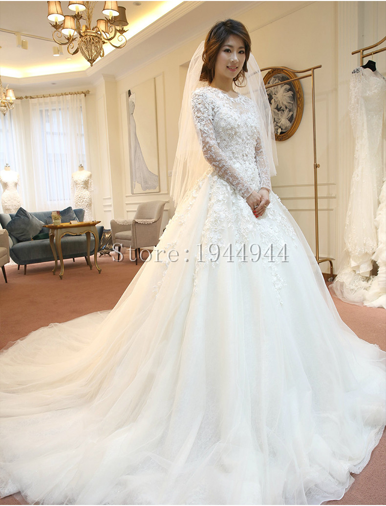 Real Image Lace Ball Gown China Wedding Dresses 2017 White Wedding ...