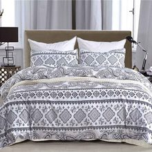 Bohemian Style Bedding Set Boho Geometric Pattern King Size Bedclothes Pillowcase Duvet Cover Sets Home Bed Decoration Textiles(China)