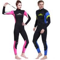 Men And Women's Dive Skin Wetsuit RashGuard Long Sleeve Swimwear Surf Suit For Snorkeling Scuba Dive Swim Kayak Sailing Canoeing