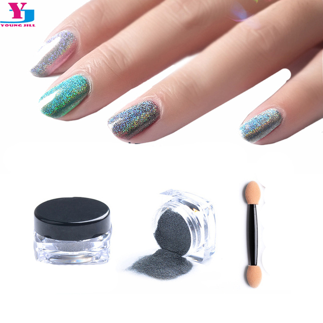 Newest Magic Chrome Nail Art Glitter Powder Mirror Effect Laser ...