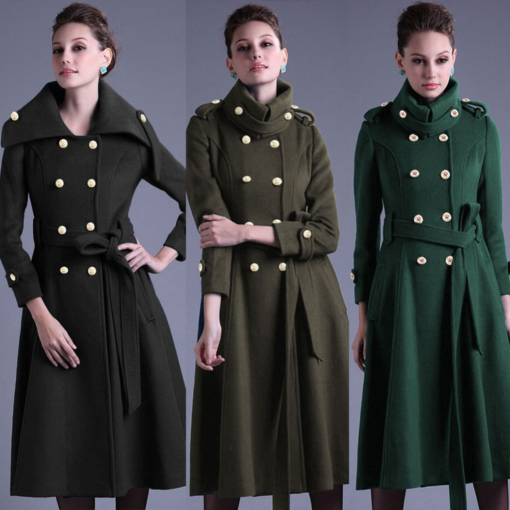 Popular Double Breasted Military Coat Women-Buy Cheap Double
