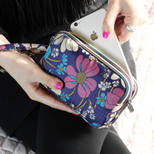 Fashion Women Wallet Canvas 3 – Layer Zipper Large Capacity