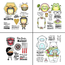 ZhuoAng Colorful Lovely Animals/Insect Tree Clear Stamps For DIY Scrapbooking/Card Making/Album Decorative Silicone Stamp Crafts