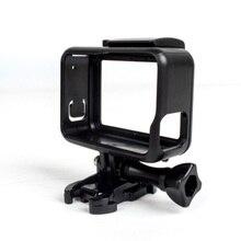 Schutz Rahmen Fall Standard Offene Schale + Lange Schraube + Basis Halterung für GoPro Hero 5 Schwarz