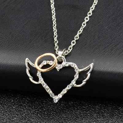 Colorful Bling Angle Wings Style Gold Silver Color Circle Choker Necklace High Quality Link Chain Collar Chocker Necklaces