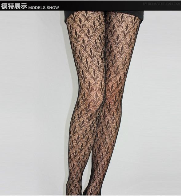 Fashion Womens Lady Girls Black Sexy Fishnet Pattern Jacquard Stockings Pantyhose Tights  skull Woman 1pcs dww43 3